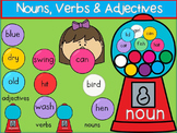 Bubble Gum Nouns, Verbs, & Adjectives