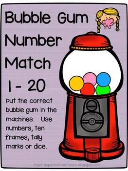 Bubble Gum Number Match