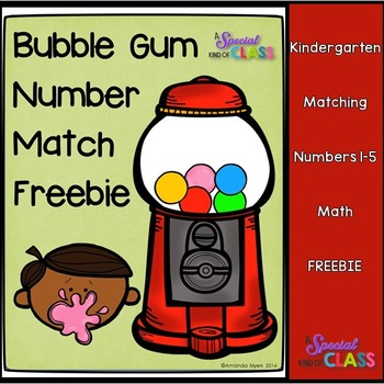 Bubble Gum Number Match Freebie
