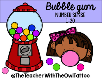 Bubble Gum Number Sense 1-20
