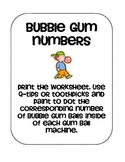 Bubble Gum Numbers