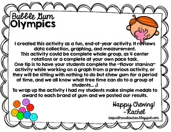 Bubble Gum Olympics: A Measurement and Graphing Activity (3.MD.3, 3.MD.4)