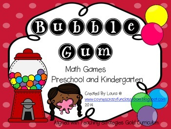 Bubble Gum Play Dough Math Mat and Games