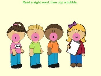 Bubble Gum Pop the (Pre-primer) Sight Words