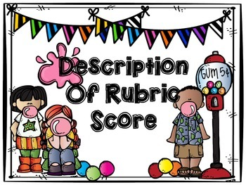 Bubble Gum Rubric Bulletin Board Set
