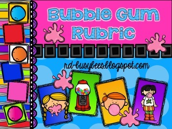 Bubble Gum Rubric Bulletin Board Set