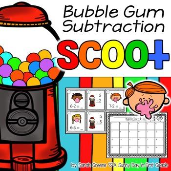 Bubble Gum Scoot! {subtraction to 10}
