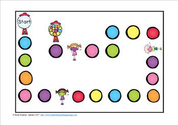 Bubble Gum Sight Word Fluency Phrases Race