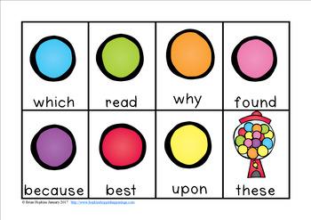 Bubble Gum Sight Word Race