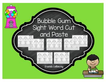 Bubble Gum Sight Word Sort