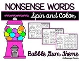 Nonsense Words Spin and Color-Bubble Gum Theme