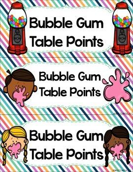 Bubble Gum Table Points