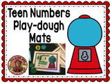 Bubble Gum Teen Numbers Play Dough Mats w/ cut and paste worksheets