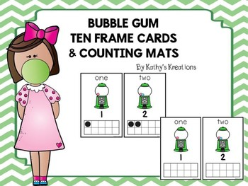Bubble Gum Ten Frame Counting Mats 1-10 Dollar Deal