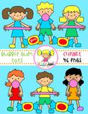 Bubble Gum Kids Clipart