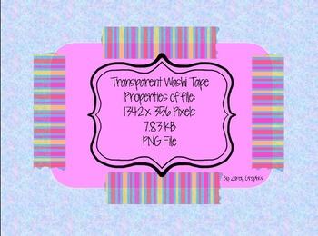 Bubble Gum Transparent Washi Tape