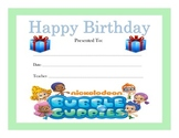 Bubble Guppies Birthday Certificates (Includes 4 Certificates)