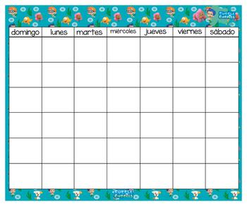 Bubble Guppies Calendar & numbers 24x20 (Bilingual)