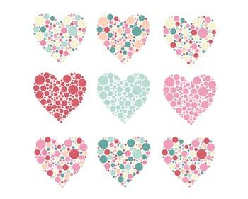Bubble Heart Clipart, Valentines Day, Hearts Clipart, Bubb