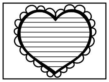 Bubble Heart Writing Template