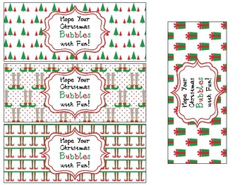 Bubble Labels for Christmas Gifts