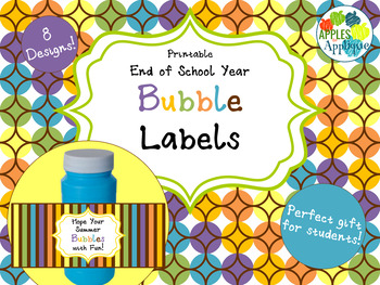 Bubble Labels for End of School Year