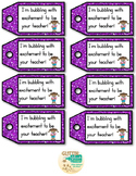 Bubble Labels with Glitter Tags