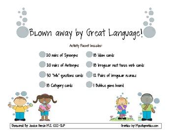 Bubble Language Packet!