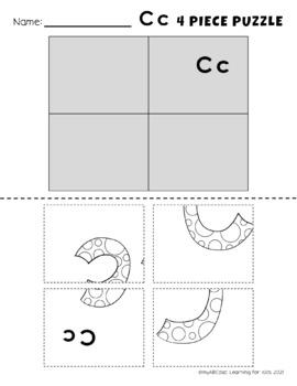 Color the Alphabet Bubble Letter Puzzles