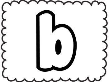 Bubble Letter Alphabet {Lower Case}