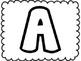 Bubble Letter Alphabet {Upper Case}