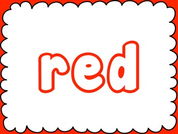 Bubble Letter Color Words