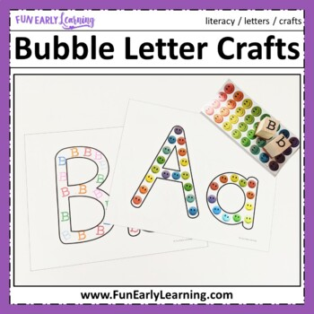 Bubble Letter Crafts