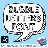 Bubble Letter Font | Back to School | Fun Fonts