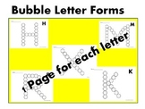 ABC Bubble Letter Forms