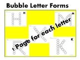 ABC Bubble Letter Forms