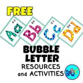 Bubble Letter Mm Letter Learning for Kids