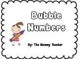 Bubble Letter Numbers 1-20