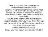 Bubble Letter Suffixes