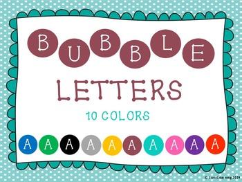Bubble Letters {Alphabet Clipart}
