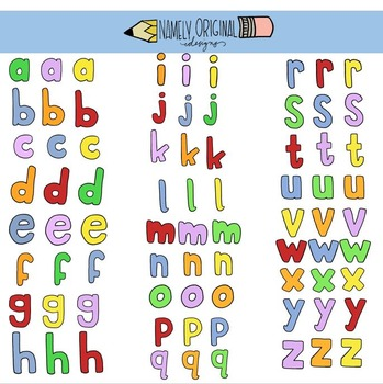 Bubble Letters Clipart