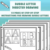 Bubble Letters Directed Drawing