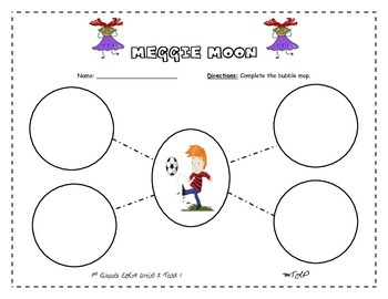 Bubble Maps for Meggie Moon, Tiger, and Digger 1st Grade ELA Unit2 Task 2
