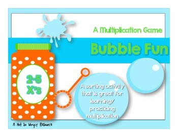 Bubble Math- A Multiplication Sorting Game (2- 5 X's)