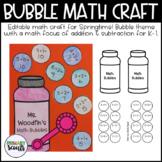 Bubble Math Craft