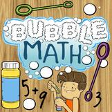 Bubble Math - Kindergarten Common Core Addition