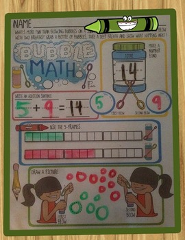 Bubble Math - Kindergarten Common Core Addition