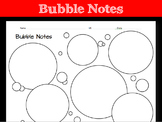 Bubble Notes Worksheet