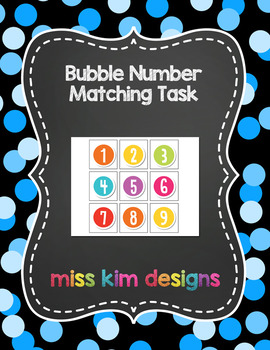 Bubble Number Matching Folder Game for Early Childhood Spe