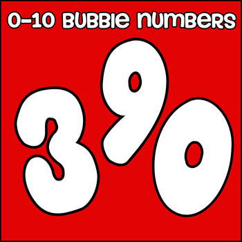 Bubble Number Posters 0-10